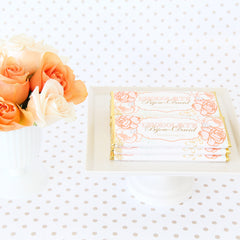 Peach and Blush Vintage Rose Personalized Candy Bar Wrapper - Sweet Paper Shop - Gold Foil
