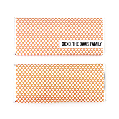 Polka Dots Personalized Candy Bar Wrapper - Sweet Paper Shop