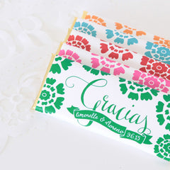 Papel Picado Gracias Fiesta Personalized Candy Bar Wrapper - Sweet Paper Shop