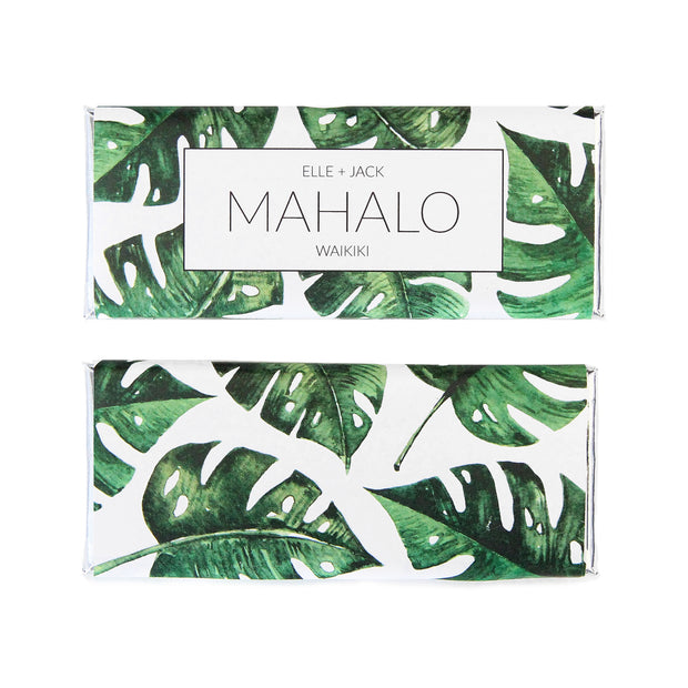 Tropical Monstera Leaf Personalized Candy Bar Wrapper