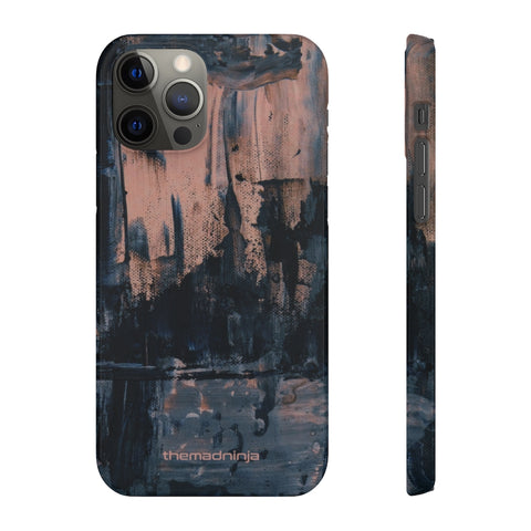 Dark Abstract Paint Snap Cases