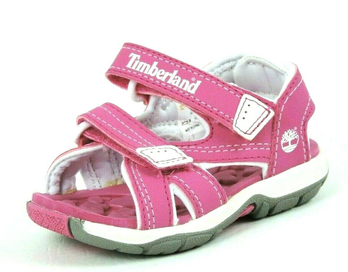 Timberland Mad River Girls Toddler Pink Casual Shoes 2 Strap Sandals 43865 DS