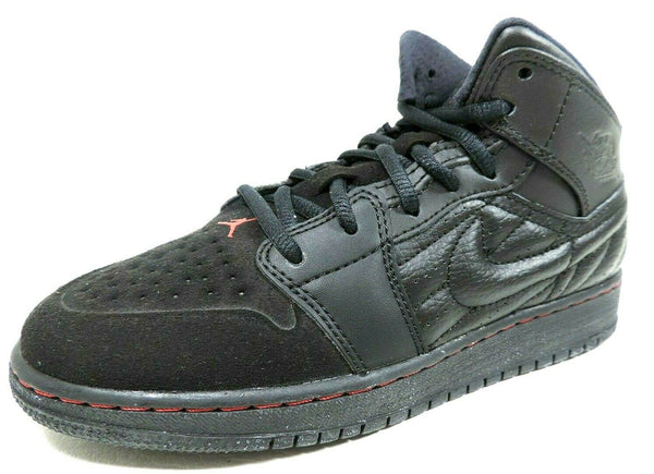 Nike Air Jordan 1 Retro '99 BG 654962 001 Basketball Boys Shoes Black Leather