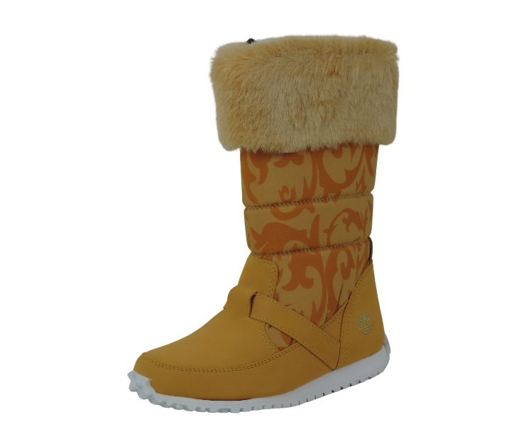 Timberland Boots 25800 Winter Free Style Wheat White Toddlers Girls Leather Snow