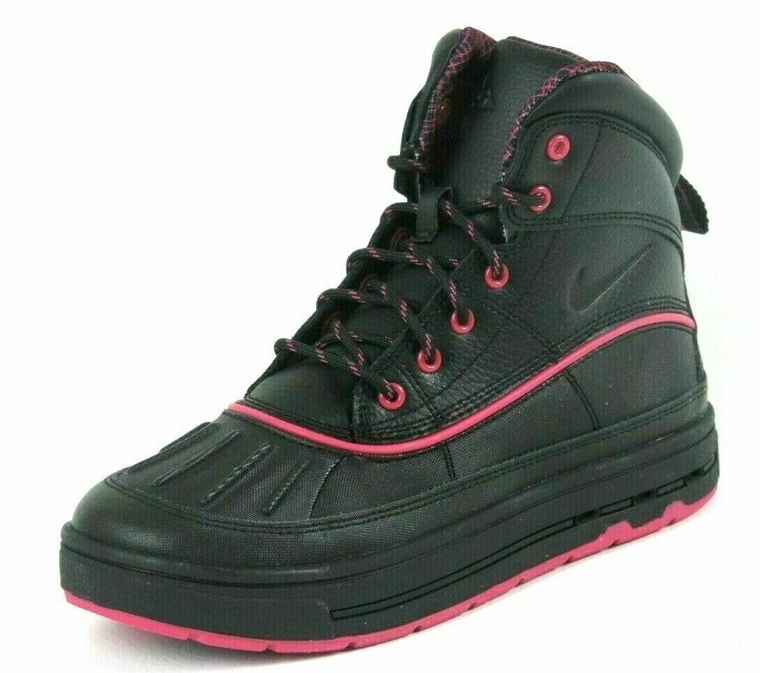 Nike ACG Woodside 2 High GS 524876 001 Womens Winter Boots Waterproof Black Pink