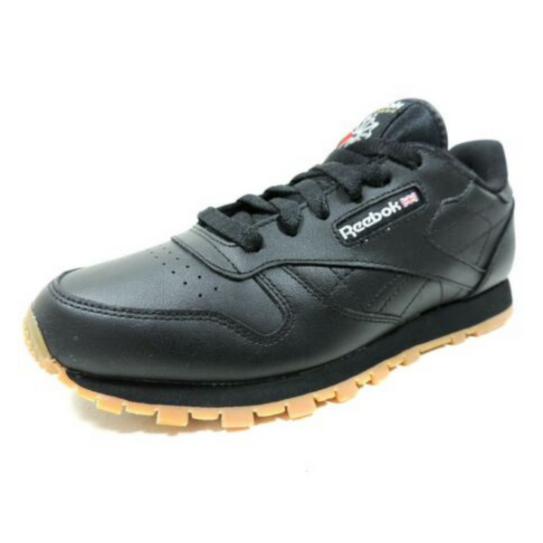 Reebok Classic Leather Black V69623 Junior Big Kids Running Tennis Shoes SZ 6.5