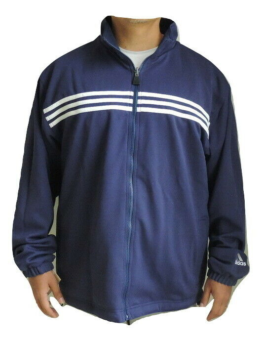 Adidas Salomon 3-Stripes Mens Windbreaker Jacket Medium Reversible Blue 256099XL