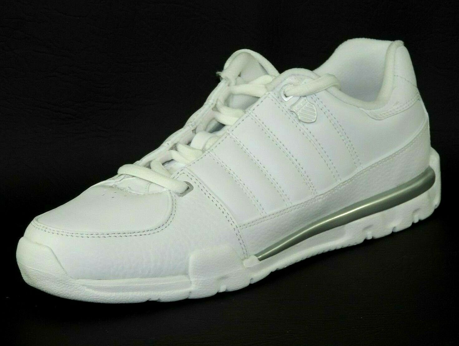 K-Swiss KAYESTEE Mens Shoes 02153147 White Leather Tennis Running Dead Stock