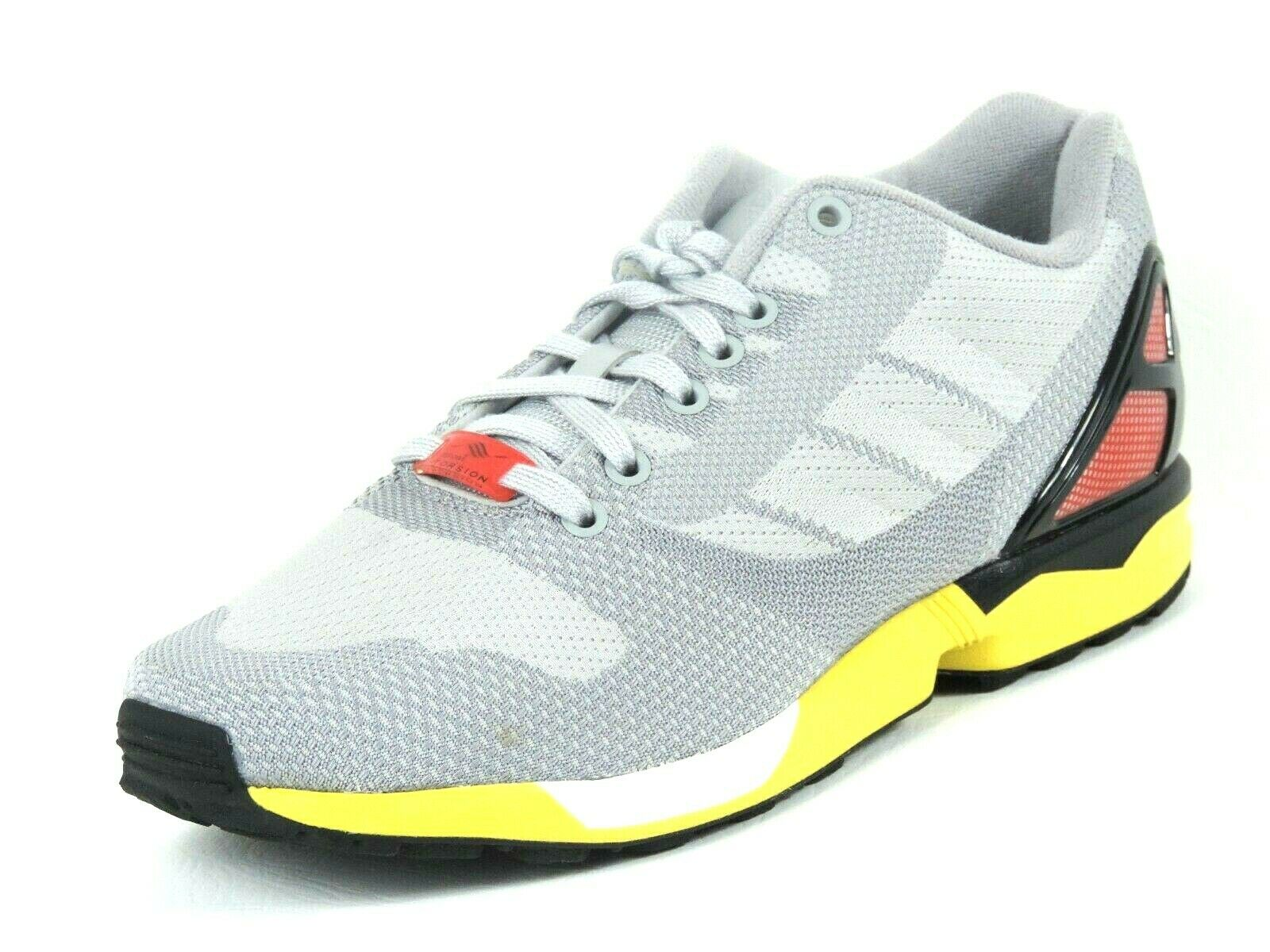 Adidas ZX FLUX WEAVE AF6346 Originals Running Mens Shoes Leather Grey Clonix