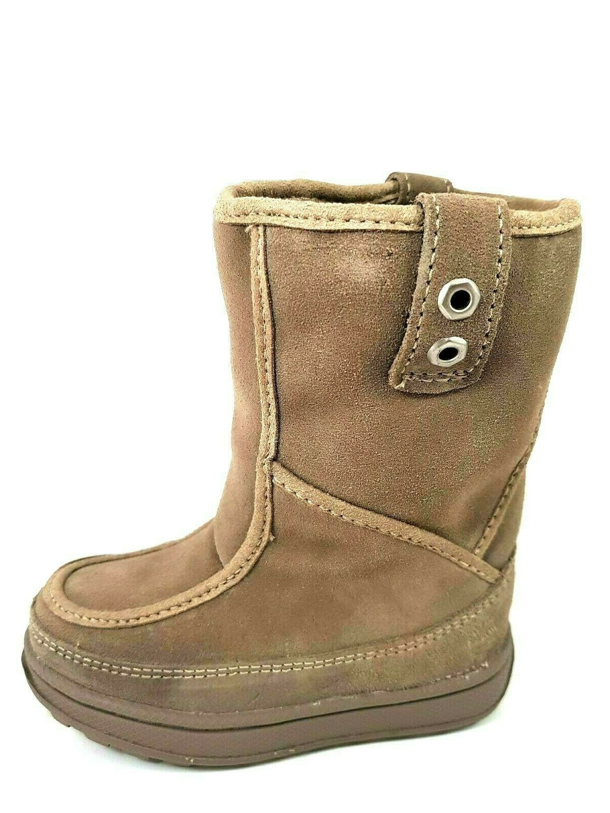 Timberland Girls Boots Winter 36776 M/M Mukluk Jewel Leather Tones Beige Sz 3 Y