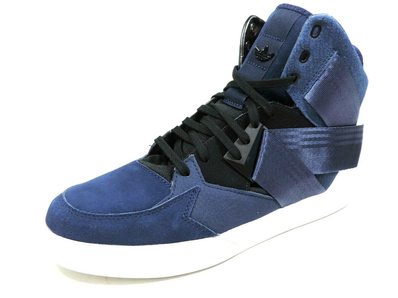 Adidas C-10 Mens Shoes C75338 Basketball Sneakers Leather Blue White High Top
