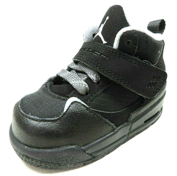 Nike Air Jordan Flight 45 TRK Toddler Shoes 467931 003 Black Sneakers Leather S5