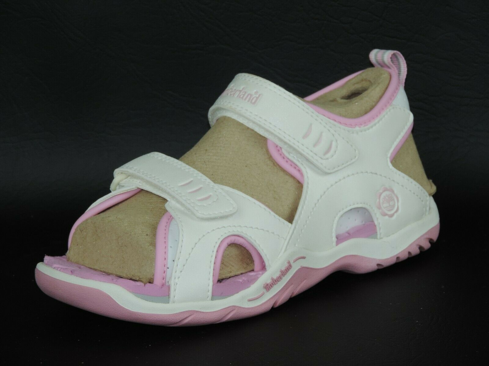 Timberland Girls Sandals Rock Skipper 2 STR White Pink Leather 65751 Hiking Rare