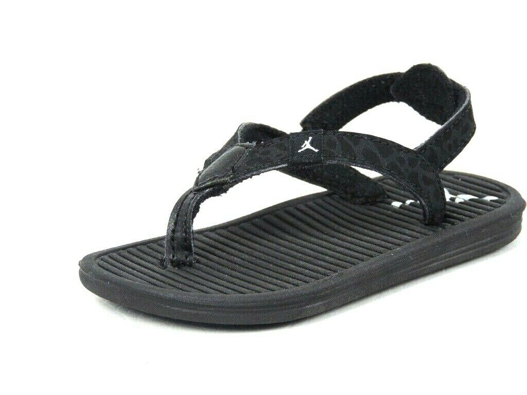 Nike Air Jordan Infant Girls Flip Sandal 580576 010 Black Flip Flop Solar Soft