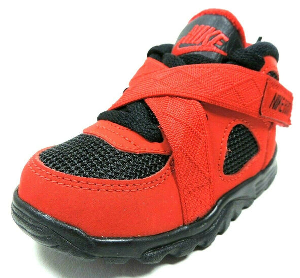 Nike Raid TD 644415 600 Toddlers Shoes Red Sneakers Leather Nylon Adjustable