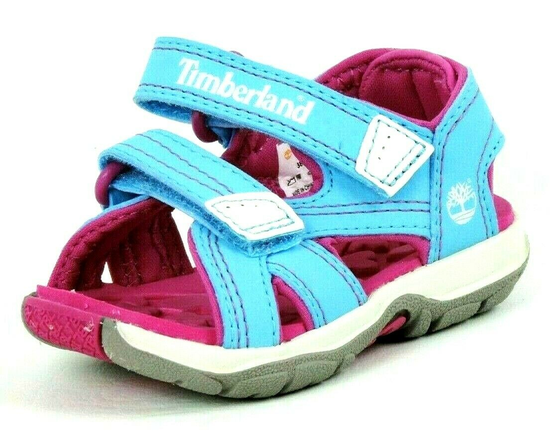 Timberland Mad River Girls Toddler Pink Casual Shoes 2 Strap Sandals 3881R DS