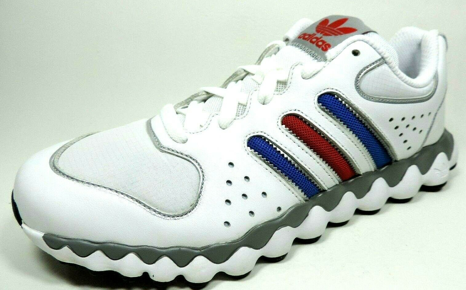 Adidas Mega Softcell RL G51197 Mens Shoes Running Sneakers Leather White Blue
