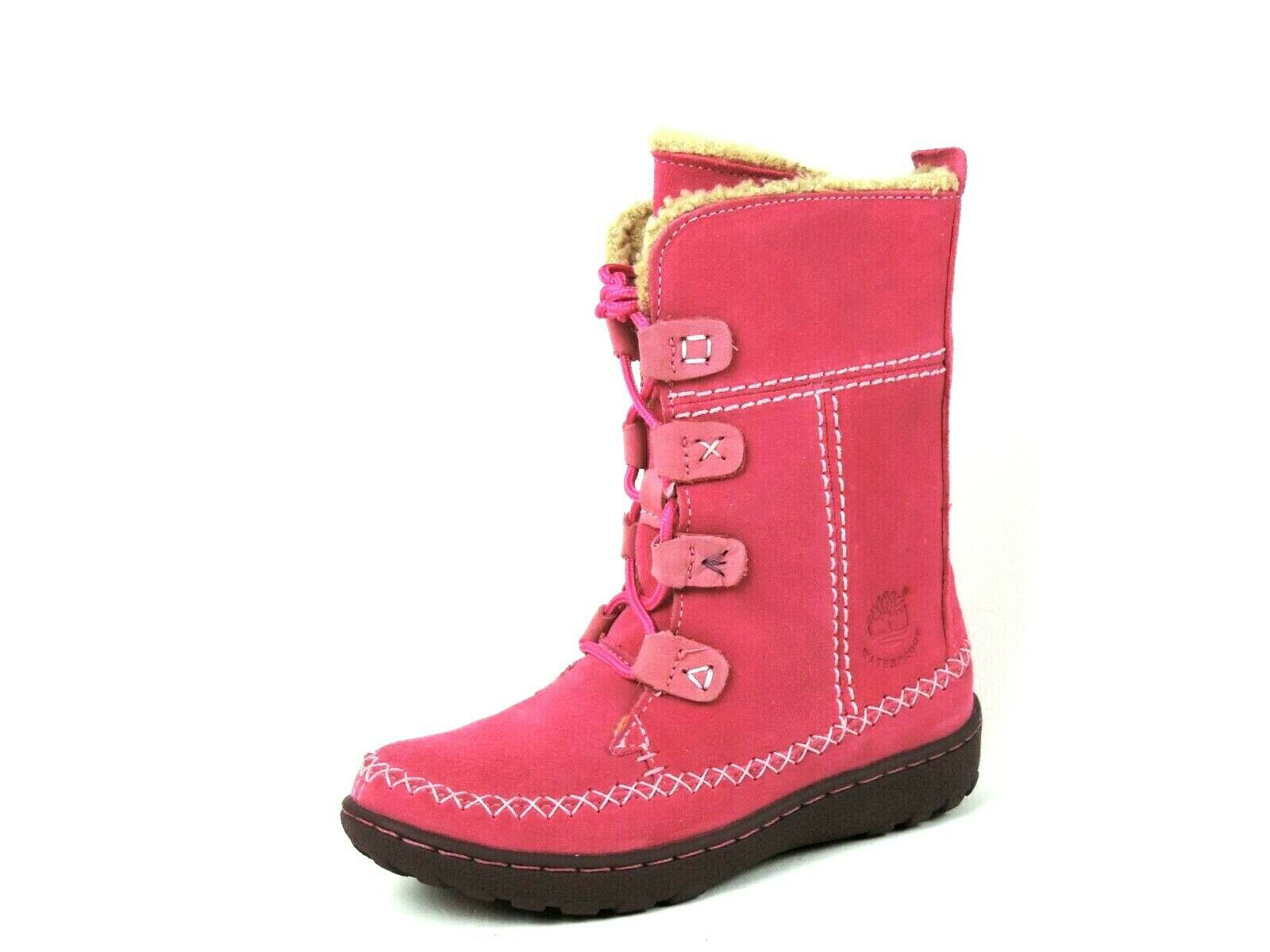 Timberland Oslo Expres Fauna Leather Pink 50731 Winter Girls Boots Snow Rare DS