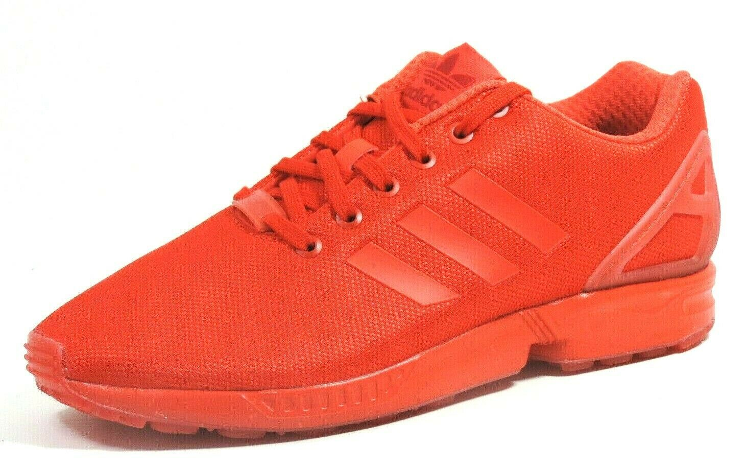 Adidas ZX Flux AQ3098 Mens Shoes Running Athletic Nylon Red Black Dead Stock