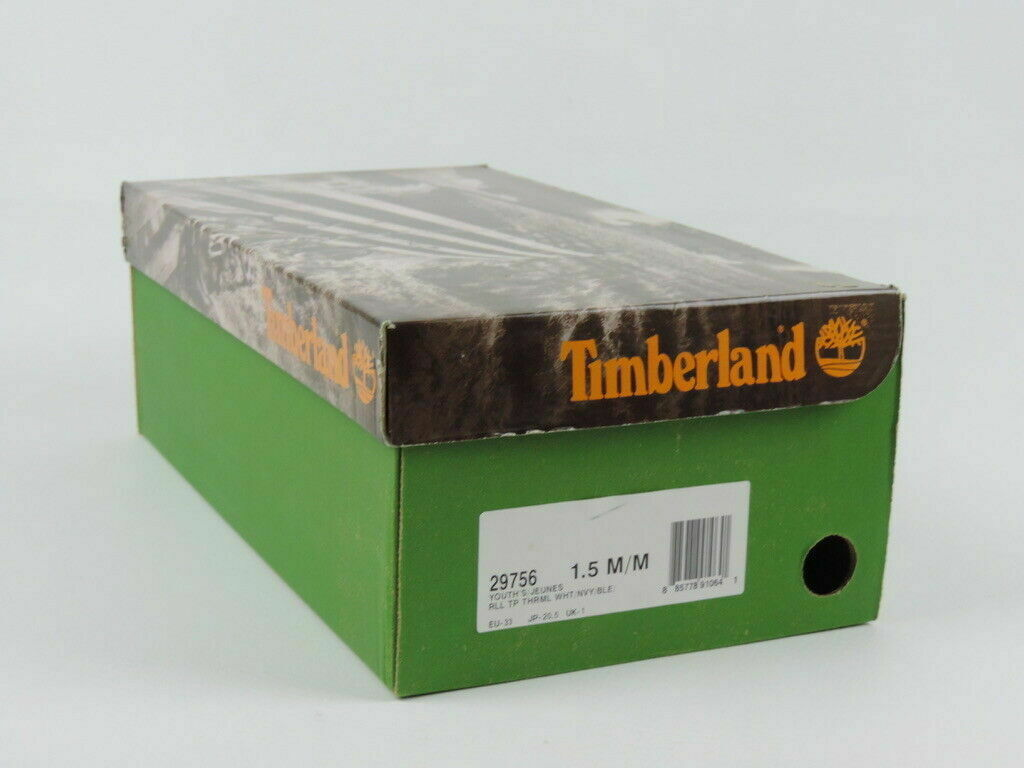 Timberland Roll Top Boys Shoes BootsThermal Leather Winter Leather 29756 Sz 1.5Y