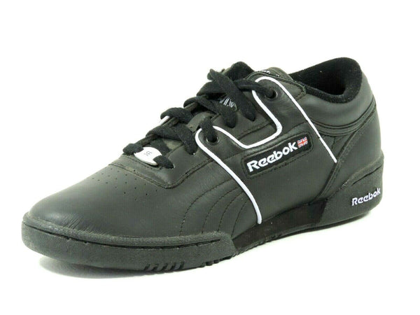 Reebok Womens Shoes Workout Lo Piping SE 2-138976 Black Leather Sneakers Running