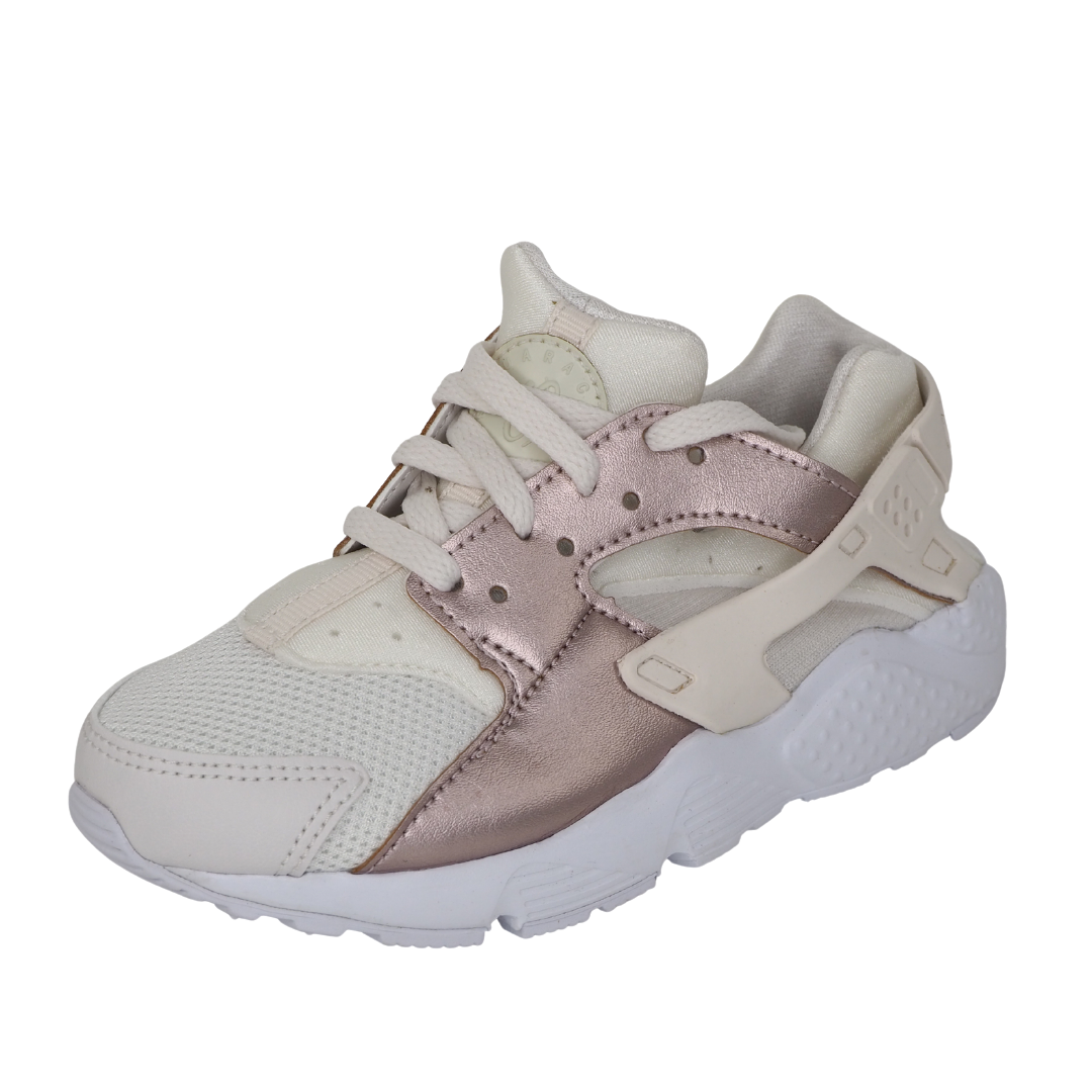 Nike Huarache Run PS 704951 014 Little Kids Running Shoes Beige Girls Leather DS