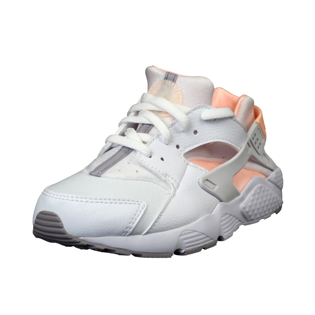 Nike Huarache Run PS 704951 110 Little Kids Running Shoes White Girls Leather DS