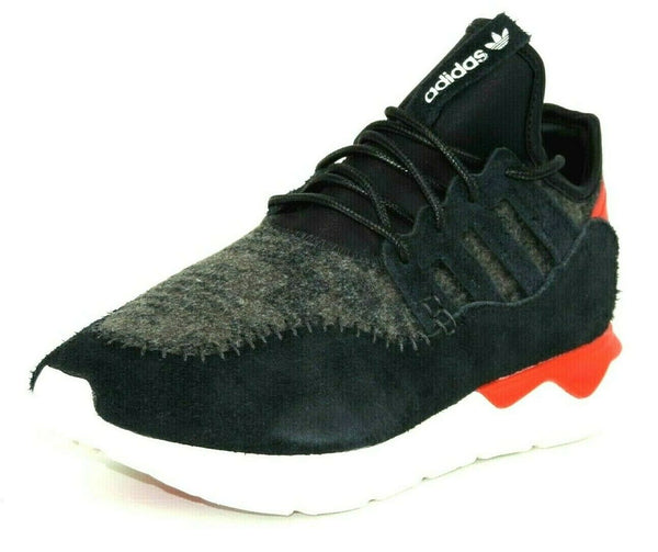 Adidas Tubular Moc Runner B24693 Mens Shoes Black Tomato Textil Sneakers DS
