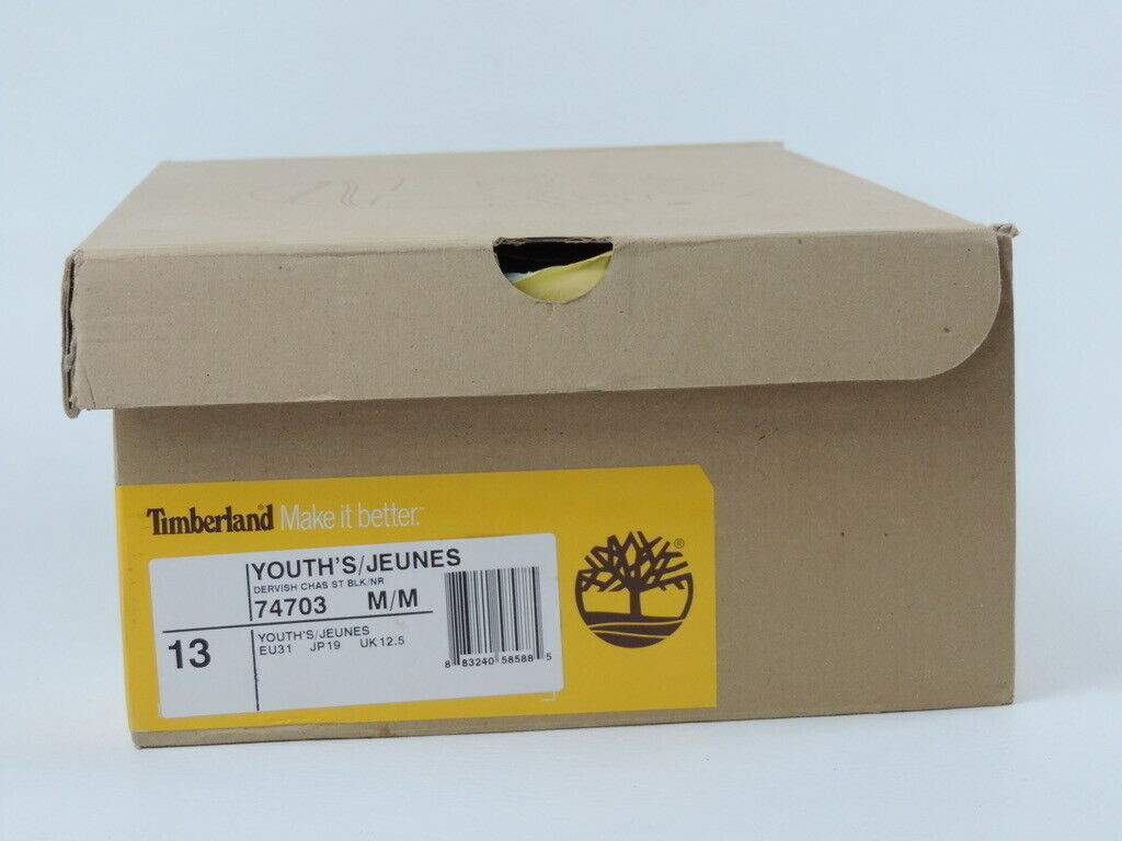 Timberland Dervish Charles Street 74703 Girls Shoes Boots Black Leather Tall DS