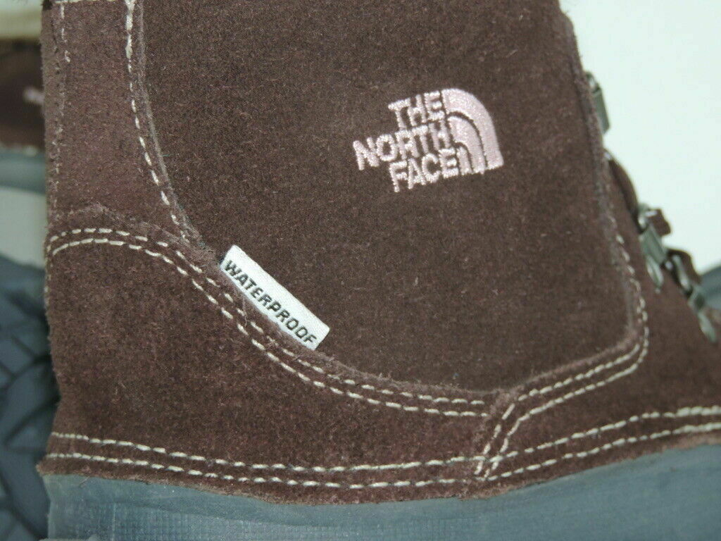 The North Face MCMURDO Girls Boots SZ 4Y Winter Snow Brown Waterproof AV5YC59