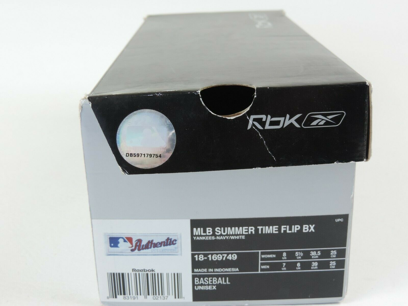 Reebok MLB Womens Sandals Summer Time Flip BX Team Blue 18-169749 Vintage Thong