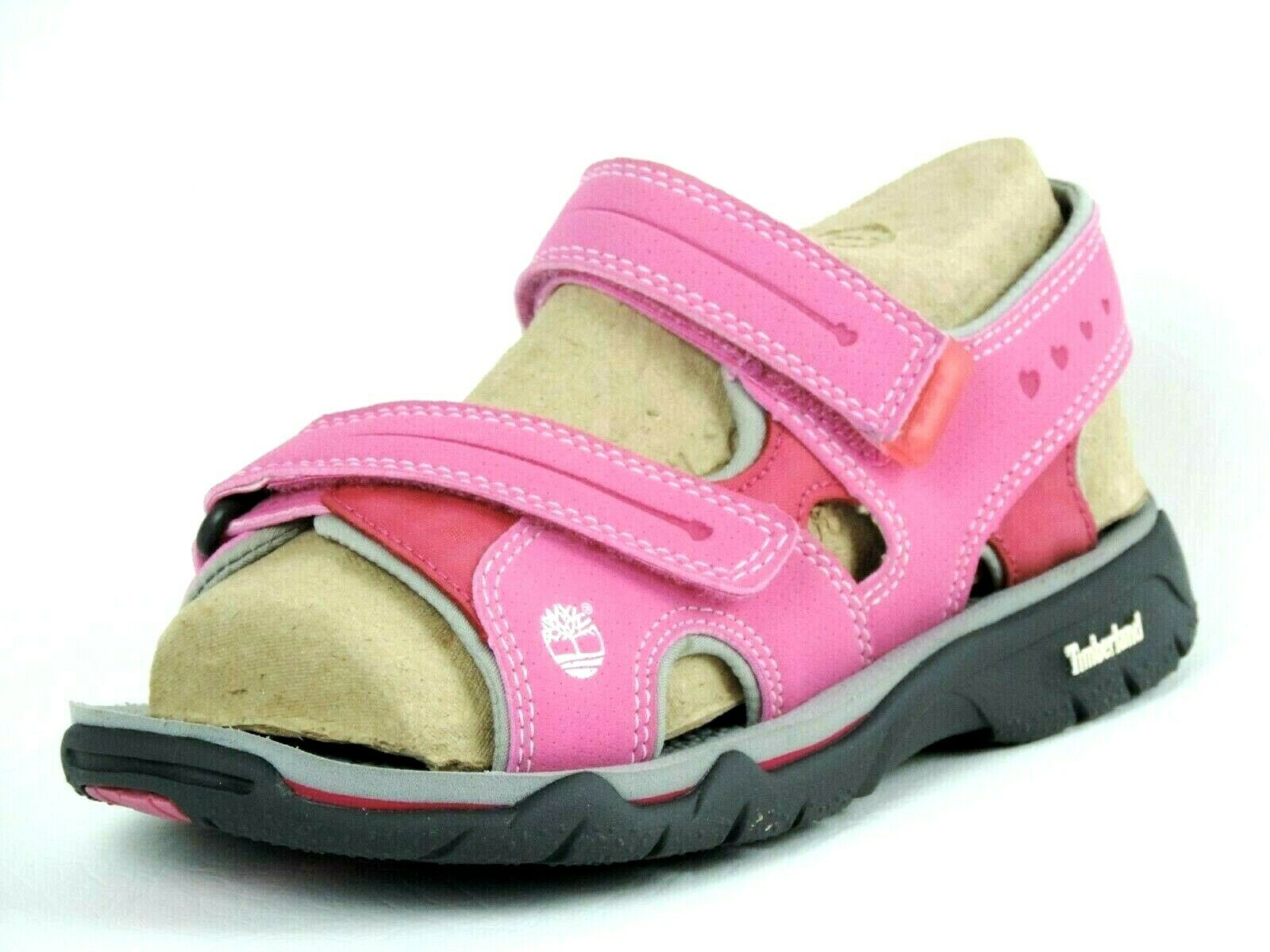 Timberland Girls Sandals Rock Skipper Leather Pink Rose 62738 Hiking Rare DS
