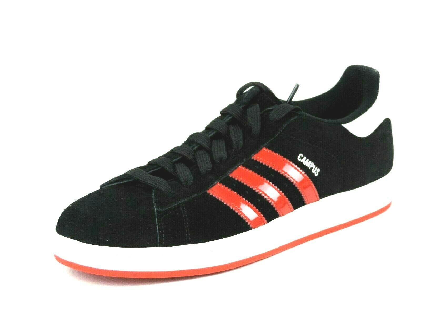 Adidas Campus II 018372 Mens Shoes Black Leather Casual Sneakers Rare DS