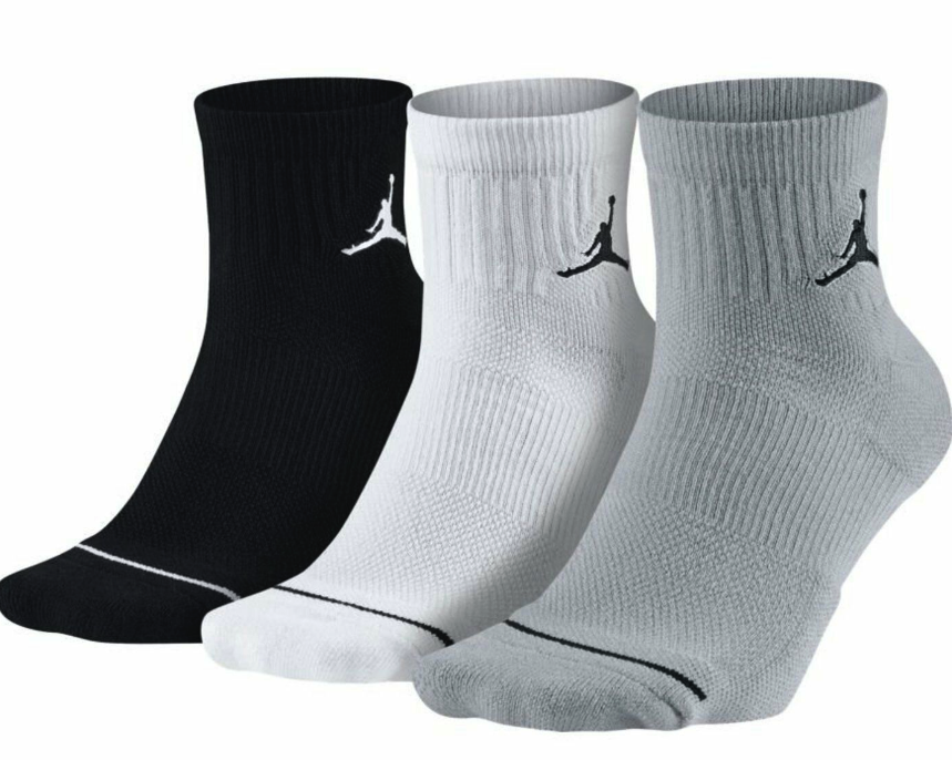 Nike Air Jordan Jumpman Basketball Ankle Socks 3 Pairs 1 Pack Black SX5544-100