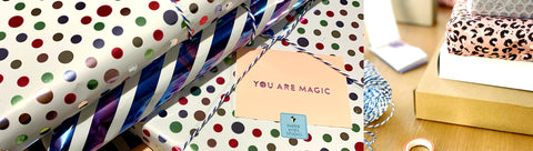 Paper cut art gift wrapped and packaged
