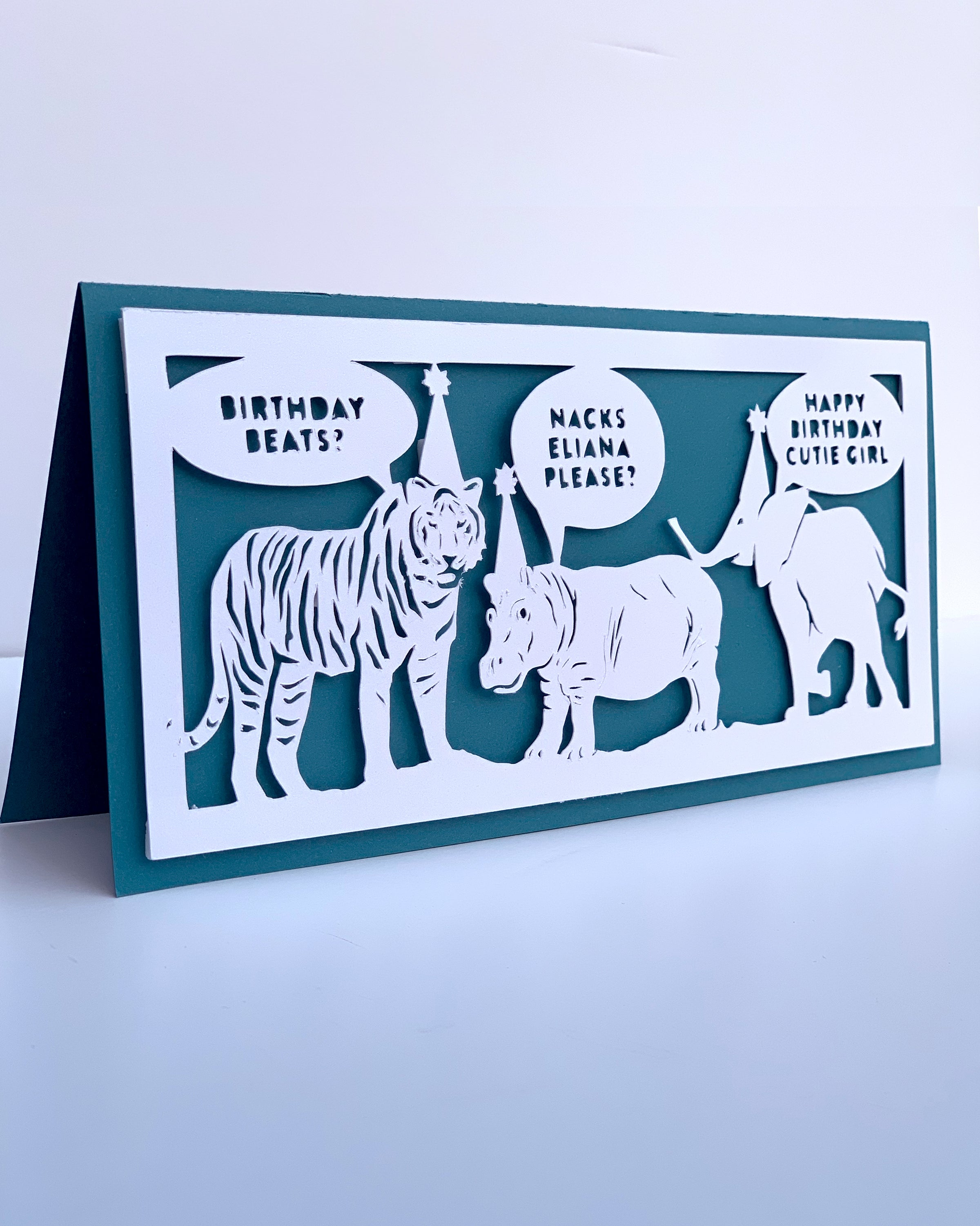 Birthday Animal Conversation Card