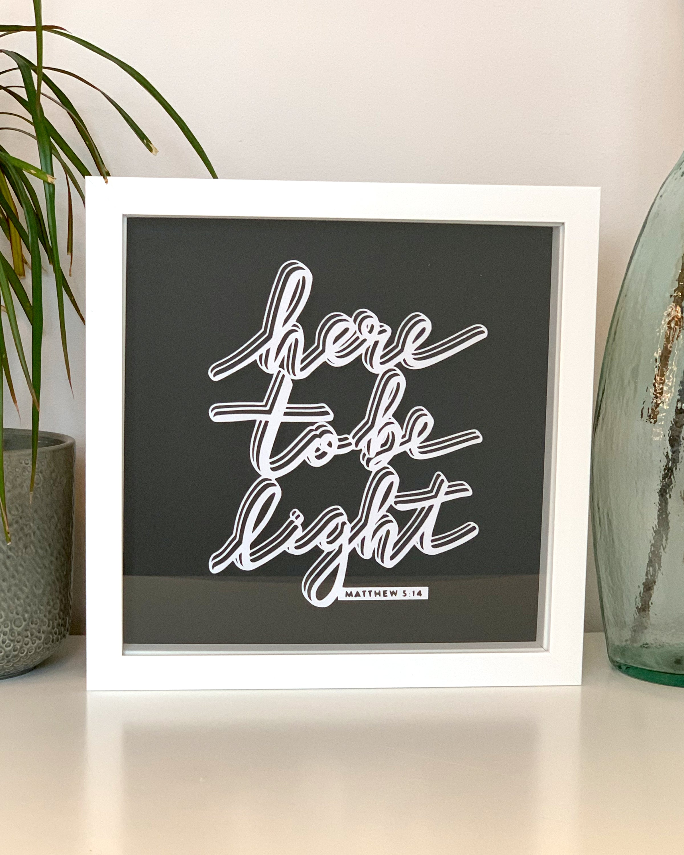 'Here To Be Light' Paper Cut Wall Art