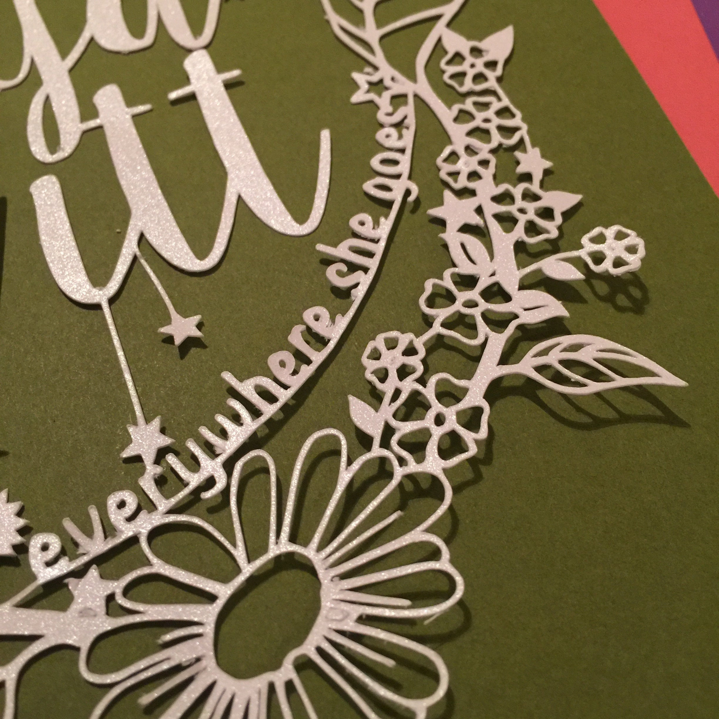 'She Leaves A Little Sparkle Everywhere She Goes' Paper Cut Wall Art