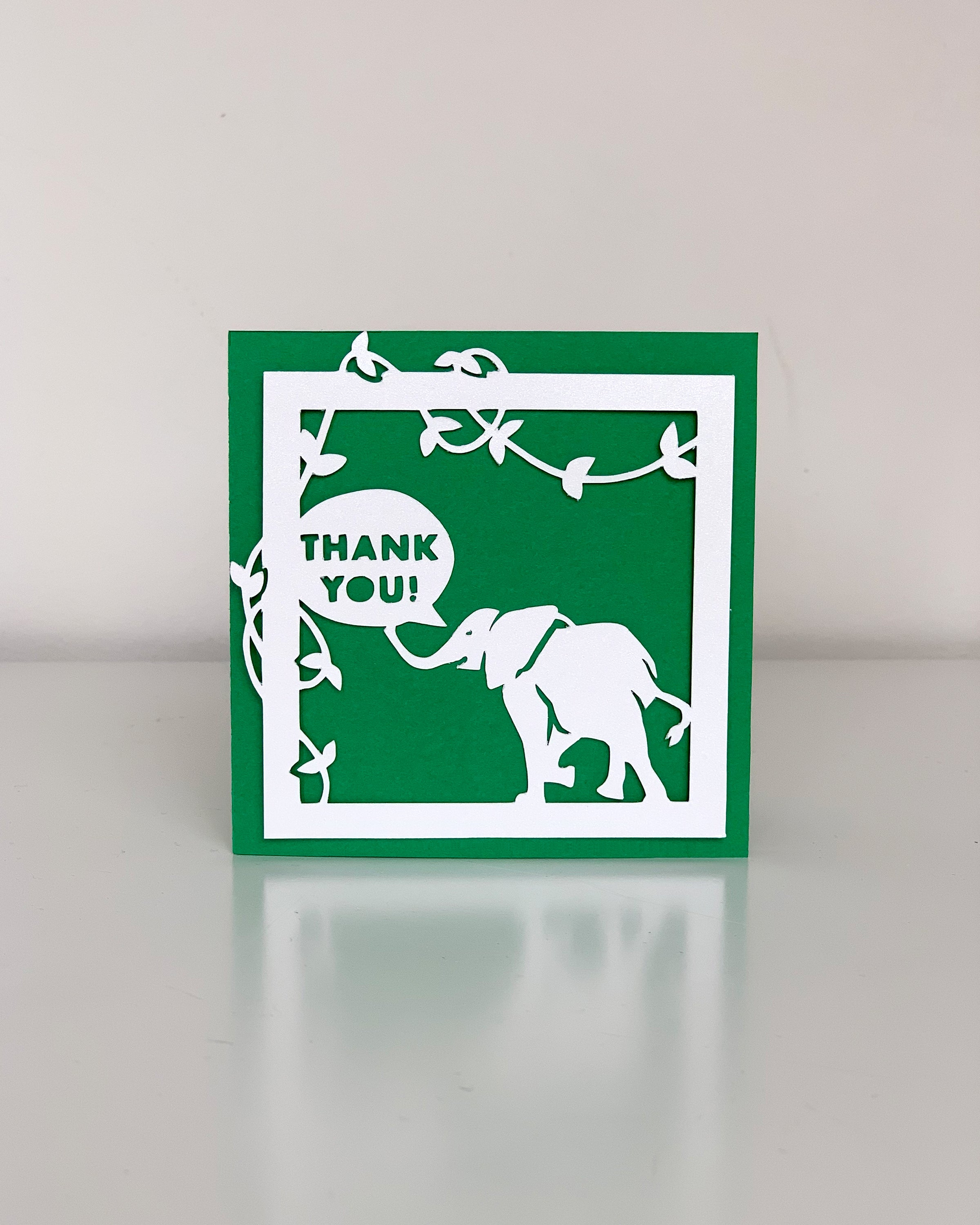 Elephant Paper Cut Card