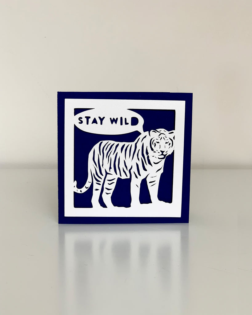 tiger card with speech bubble
