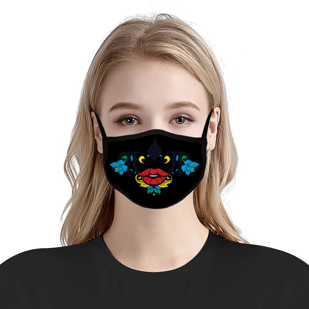 Black Flower -  Face Cover Ordinary Face Cover for Women and Men