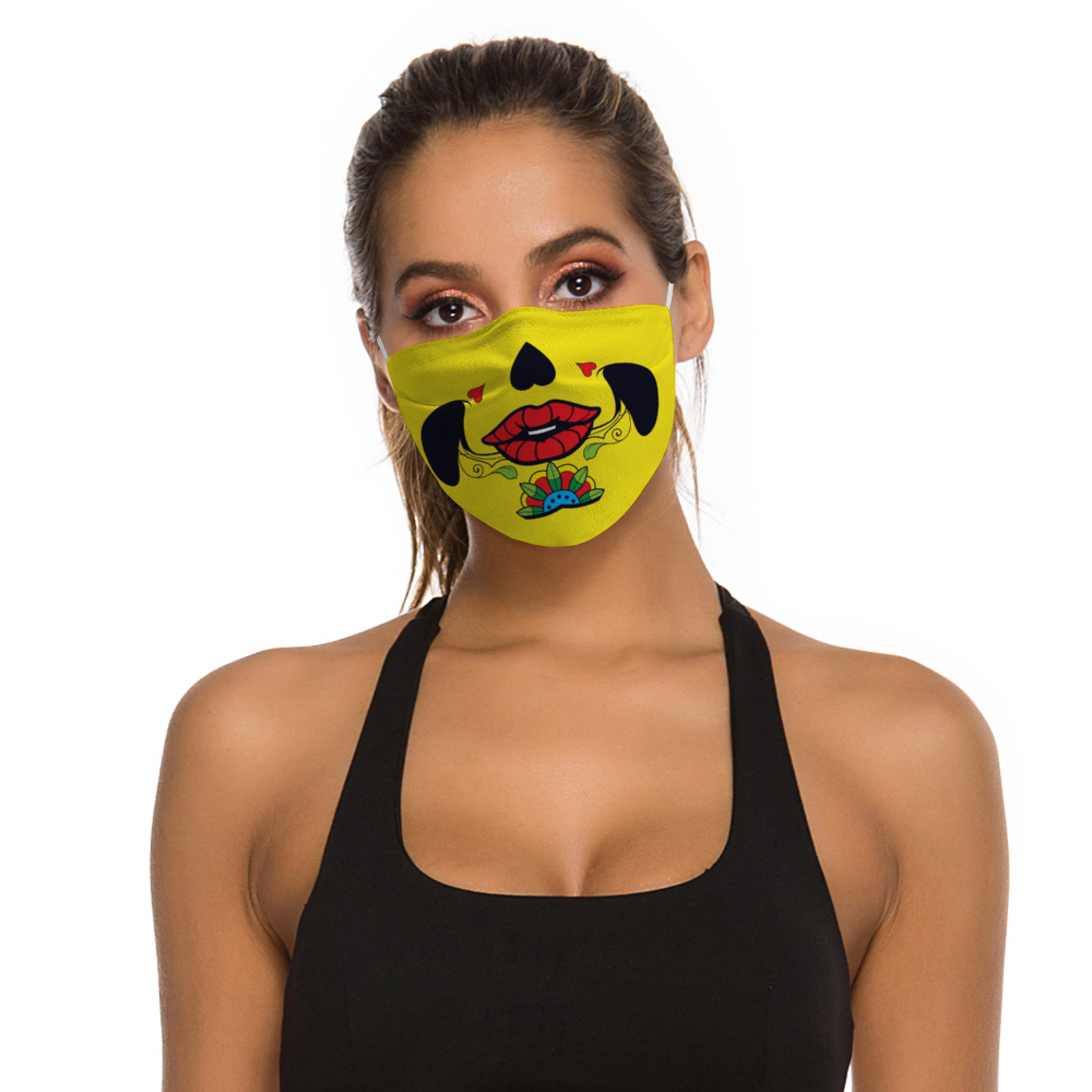 Skull - Non-Medical Face Cover, Face Cover Without Filter for Adult