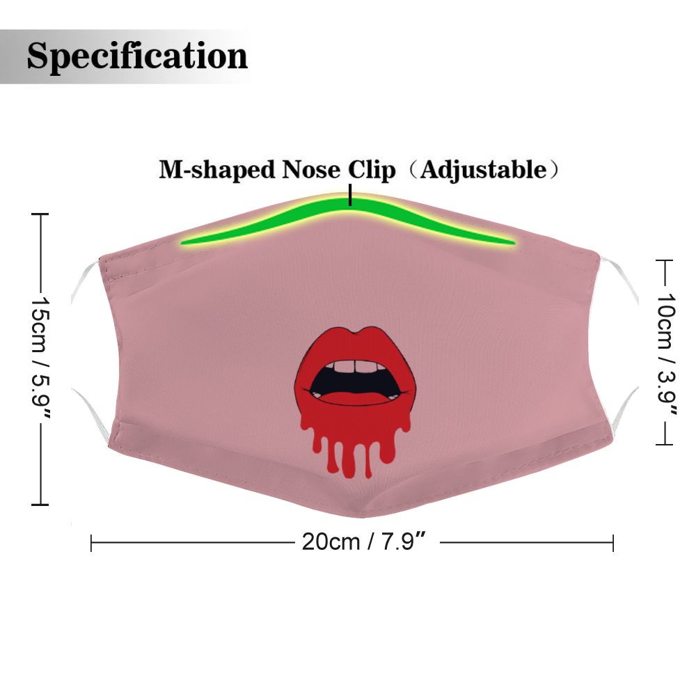 Dripping Pout -  Non-Medical Face Cover, Face Cover Without Filter for Adult