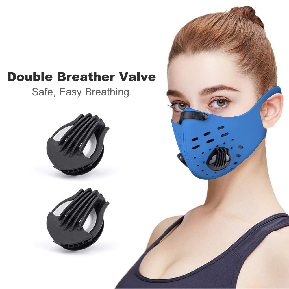 Vented - Face Cover Earhook Riding Face Cover, with 1, 2, 5, or 10 Filters