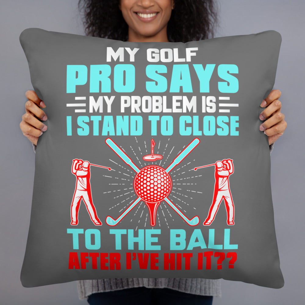 My Golf Pro Says - Throw Cushion