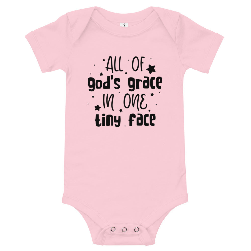All Of Gods Grace In One Tiny Face - Romper