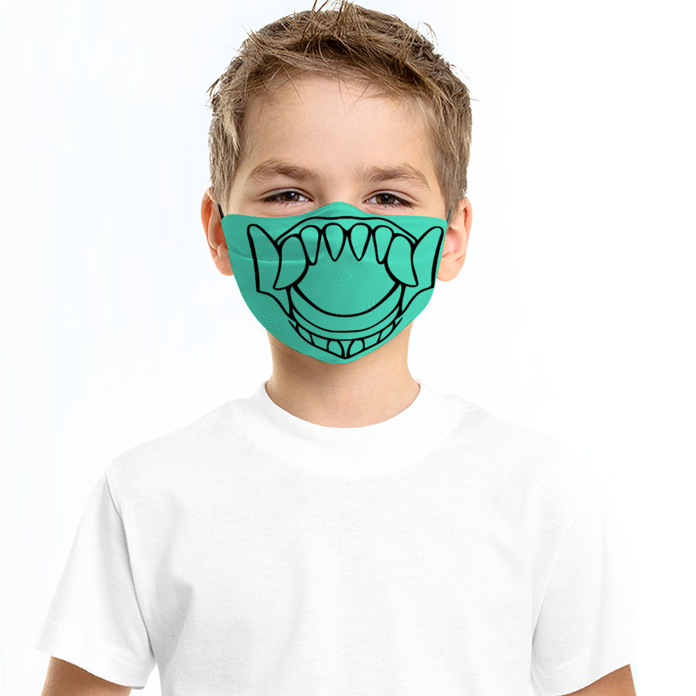 Lions Teeth -  Children Dust Proof Face Cover with Multi-piece Filters