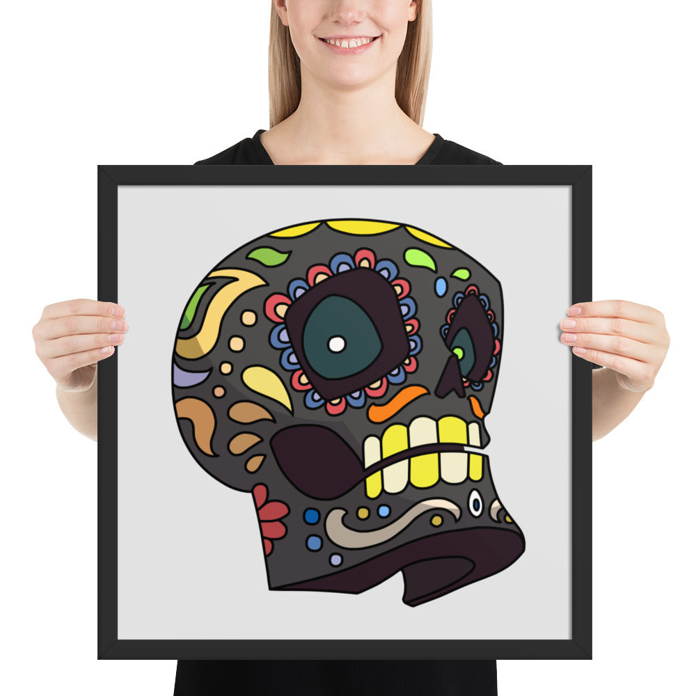 Framed poster of a Skull