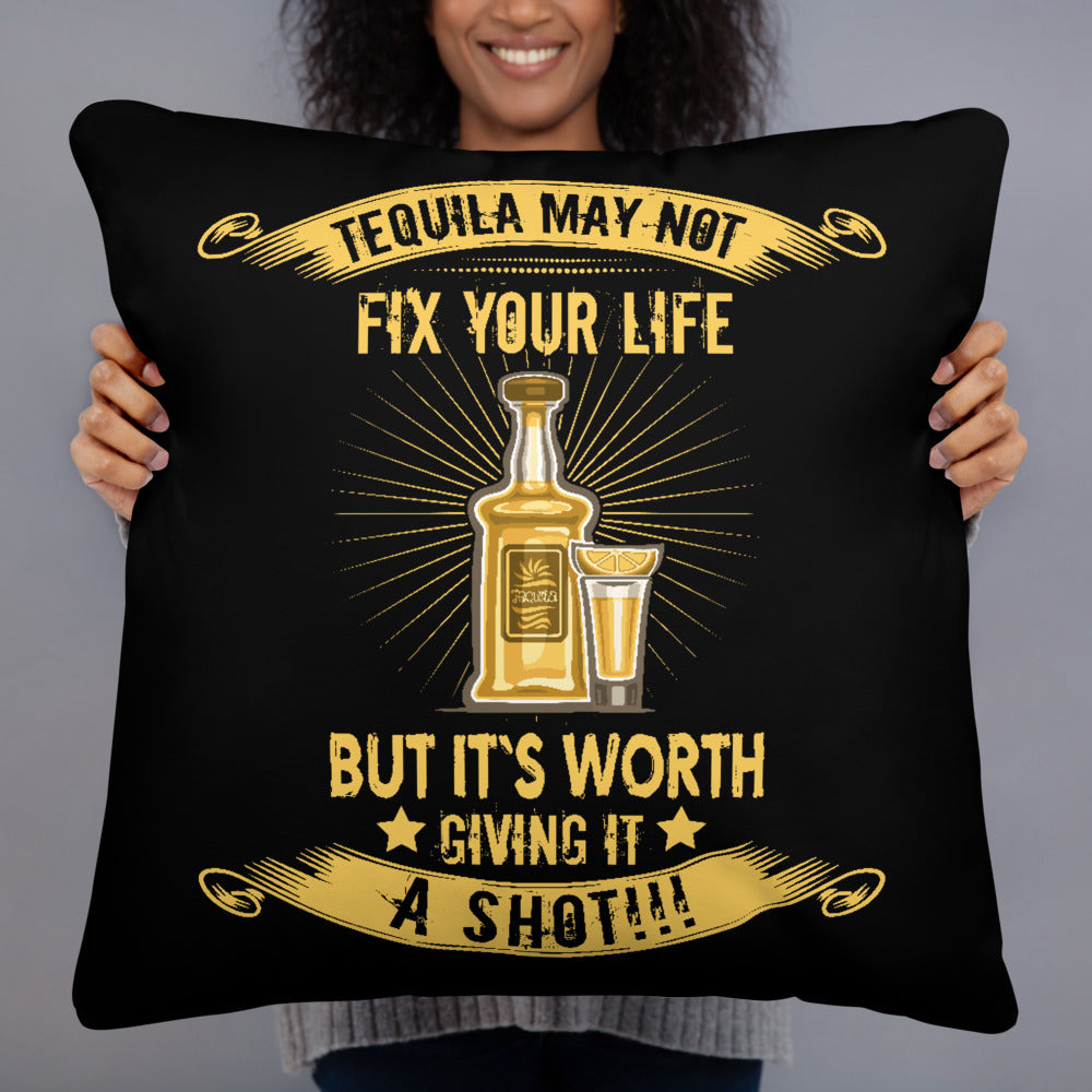 It's Worth A Shot - Throw Cushion