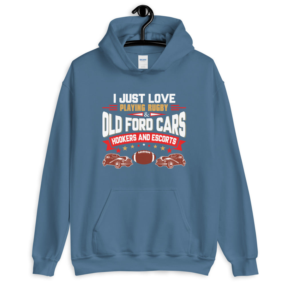 I Love Playing Rugby - Unisex Hoodie